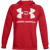 FELPA DA UOMO UNDER ARMOUR RIVAL FLEECE BIG LOGO HD ROSSA