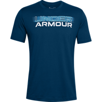T-SHIRT DA UOMO UNDER ARMOUR BLURRY LOGO WORDMARK SS  BLU