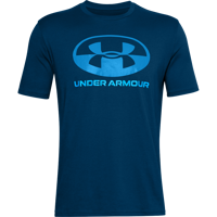 T-SHIRT DA UOMO UNDER ARMOUR LOCKER TAG WORDMARK SS BLU