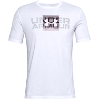 T-SHIRT DA UOMO UNDER ARMOUR BOX LOGO WORDMARK SS BIANCA