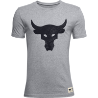 T-SHIRT DA RAGAZZO UNDER ARMOUR PJT ROCK BRAHMA BULL SS GRIGIA