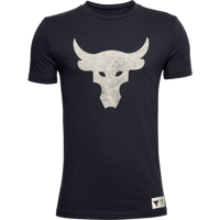 T-SHIRT DA RAGAZZO UNDER ARMOUR PJT ROCK BRAHMA BULL SS NERO