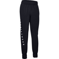 PANTALONE DI TUTA DA DONNA UNDER ARMOUR WOVEN BRANDED PANT NERO