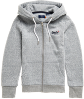 FELPA DA DONNA SUPERDRY ORANGE LABEL ZIP HOOD GRIGIA