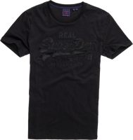T-SHIRT DA UOMO A MANICA CORTA SUPERDRY VINTAGE LOGO EMBROIDERY TEE NERA