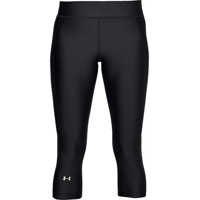 LEGGINGS 3/4 DA DONNA UNDERARMOUR CAPRI HEATGEAR NERO