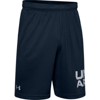 SHORT DA UOMO UNDERARMOUR TECH WORDMARK BLU NAVY