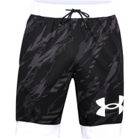 SHORT DA UOMO UNDER ARMOUR PRINTED RETRO SHORT NERO E BIANCO