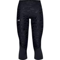 LEGGINGS 7/8 DA DONNA UNDER ARMOUR FLY FAST 2.0 SIZZLE CROP NERO CAMOUFLAGE