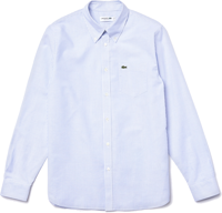 CAMICIA DA UOMO LACOSTE IN COTONE OXFORD A RIGHE REGULAR FIT
