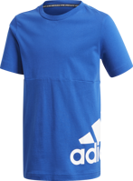 T-SHIRT JUNIOR ADIDAS MUST HAVES BIG LOGO BLU ROYAL