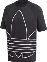 T-SHIRT DA UOMO ADIDAS BIG TREFOIL OUTLINE NERA