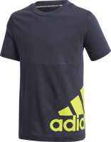 T-SHIRT JUNIOR ADIDAS MUST HAVES BIG LOGO BLU