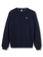 MAGLIONE DA UOMO ROUND NECK NORTH SAILS IN MISTO CACHEMIRE BLU NAVY