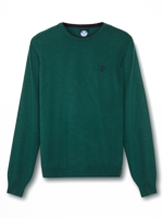 MAGLIONE DA UOMO ROUND NECK NORTH SAILS IN MISTO CACHEMIRE VERDE