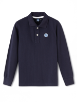 POLO A MANICA LUNGA DA BAMBINO NORTH SAILS BLU NAVY