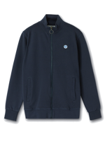 FELPA IN COTONE CON ZIP DA UOMO NORTH SAILS BLU NAVY
