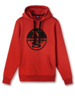 FELPA CON CAPPUCCIO DA UOMO HOODED NORTH SAILS ROSSA