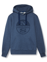 FELPA CON CAPPUCCIO DA UOMO HOODED NORTH SAILS DENIM MELANGE