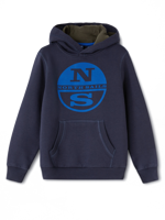 FELPA CON CAPPUCCIO DA BAMBINO HOODED NORTH SAILS BLU NAVY