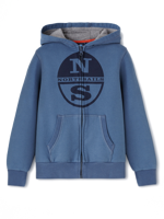 FELPA CON ZIP DA BAMBINO NORTH SAILS DENIM
