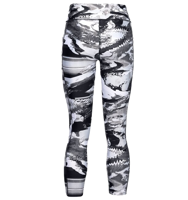 LEGGINGS 7/8 DA DONNA UNDER ARMOUR PRINTED ANKLE CROP NERO E BIANCO