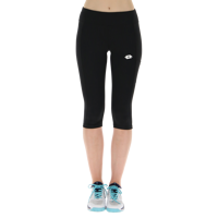 LEGGINGS MEDIO DA DONNA LOTTO SQUADRA W LEGGING MID PL NERO