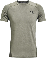 T-SHIRT A MANICA CORTA UNDERARMOUR UA HG ARMOUR FITTED SS VERDE