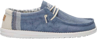 SCARPA DA UOMO DUDE WALLY LINEN NATURAL BLUE