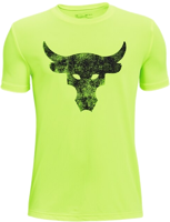 T-SHIRT MANICA CORTA UNDER ARMOUR PROJECT ROCK GIALLO FLUO