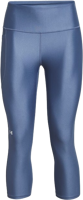 LEGGINGS CAPRI DONNA UNDER ARMOUR CON FASCIA ANTISCIVOLO BLUETTE
