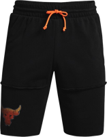 BERMUDA UOMO UNDER ARMOUR PROJECT ROCK NERO CON LACCIO ARANCIO