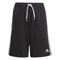 SHORT JUNIOR ADIDAS ESSENTIALS NERO CON STRISCE BIANCHE