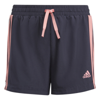 SHORT BAMBINA ADIDAS DESIGNED TO MOVE BLU CON STRISCE ROSA