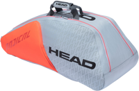 BORSONE TENNIS HEAD 9R RADICAL SUPERCOMBI GRIGIO/ARANCIO