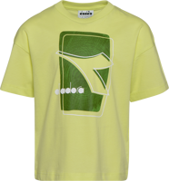 T-SHIRT MANICA CORTA JUNIOR DIADORA ELEMENTS VERDE LIME CON STAMPA FRONTALE