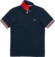 POLO MANICA CORTA UOMO SUN68 POLO STRIPES ON FRONT PLACKET BLU