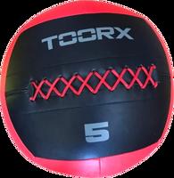 WALL BALL TOORX KG.5 DIAM 35 CM NERO/ROSSO