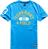 T-SHIRT MANICA CORTA UOMO SUPERDRY TRACK AND FIELD GRAPHIC AZZURRA