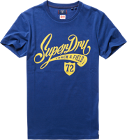 T-SHIRT MANICA CORTA UOMO SUPERDRY COLLEGIATE GRAPHIC BLU
