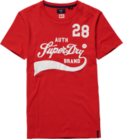 T-SHIRT MANICA CORTA UOMO SUPERDRY COLLEGIATE GRAPHIC ROSSA