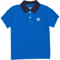 POLO DA BAMBINO NORTH SAILS IN PIQUET BLU ROYAL CON COLLO BLU