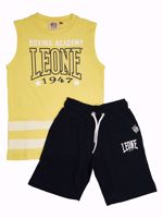 T-SHIRT + SHORT JUNIOR LEONE GIALLO/NERO