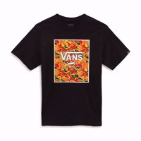 T-SHIRT MANICA CORTA VANS BY PRINT BOX JUNIOR  NERA CON STAMPA FRONTALE COLORATA