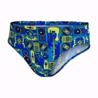 COSTUME SLIP ALLOVER JUNIOR 6.5CM BRF JM BLK/BLUE SPEEDO