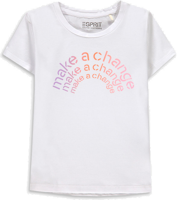T-SHIRT BABY GIRL ESPRIT BIANCA CON STAMPA MAKE A CHANGE