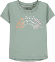 T-SHIRT BABY GIRL ESPRIT VERDE CON STAMPA MAKE A CHANGE