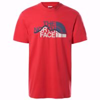 T-SHIRT MANICA CORTA UOMO MOUNTAIN LINE THE NORTH FACE ROSSA