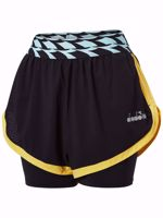 SHORT DONNA DIADORA L. DOUBLE LAYER NERO