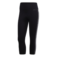 LEGGINGS 3/4 DA DONNA ADIDASDESIGN 2 MOVE 3-STRIPES NERO/BIANCO
